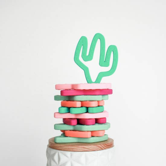 Silicone Teether: Cactus Itizy Ritzy