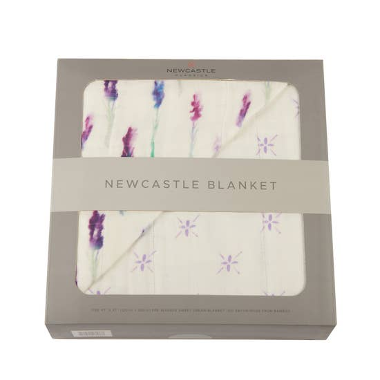 Lavender and Watercolor Star Newcastle Blanket