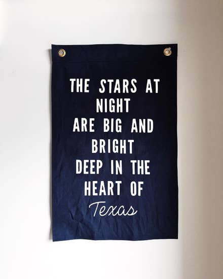 The Stars at Night Large Flag: Navy