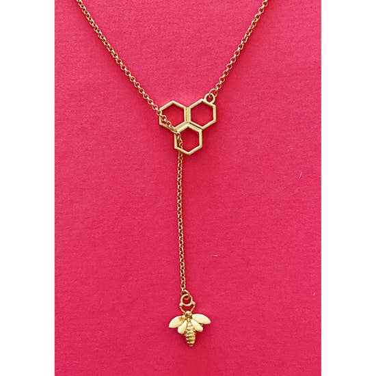 Bee With Me Necklace, Gold