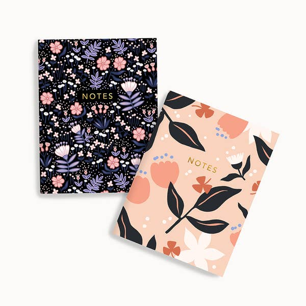 Dark Meadow + Dreamy Floral Pocket Notes