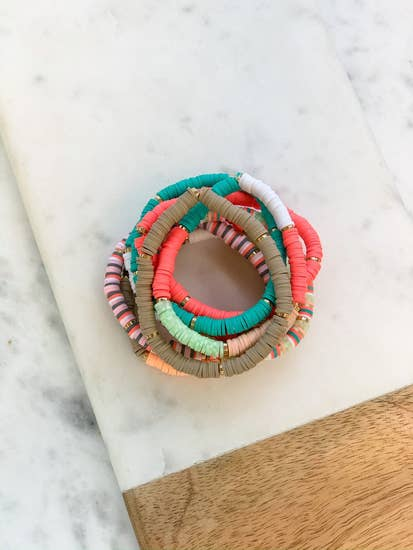 Rubber Disc Bracelet Stack