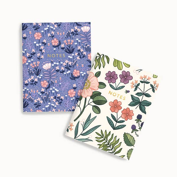 Blue Meadow + Hedgerow Pocket Notes