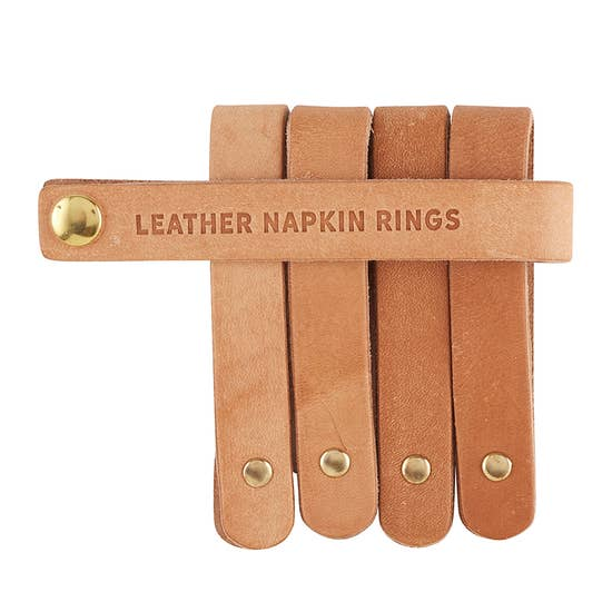 Leather Napkin Ring - Natural