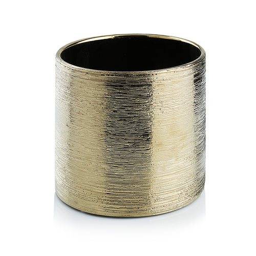 Gold Scratched Cylinder Ceramic 5""