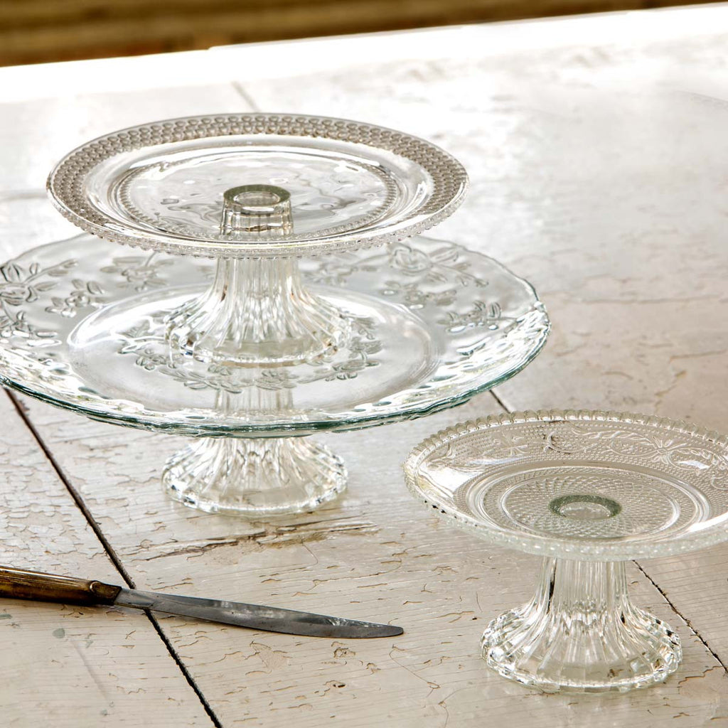 Glass Cake Plate - Medium