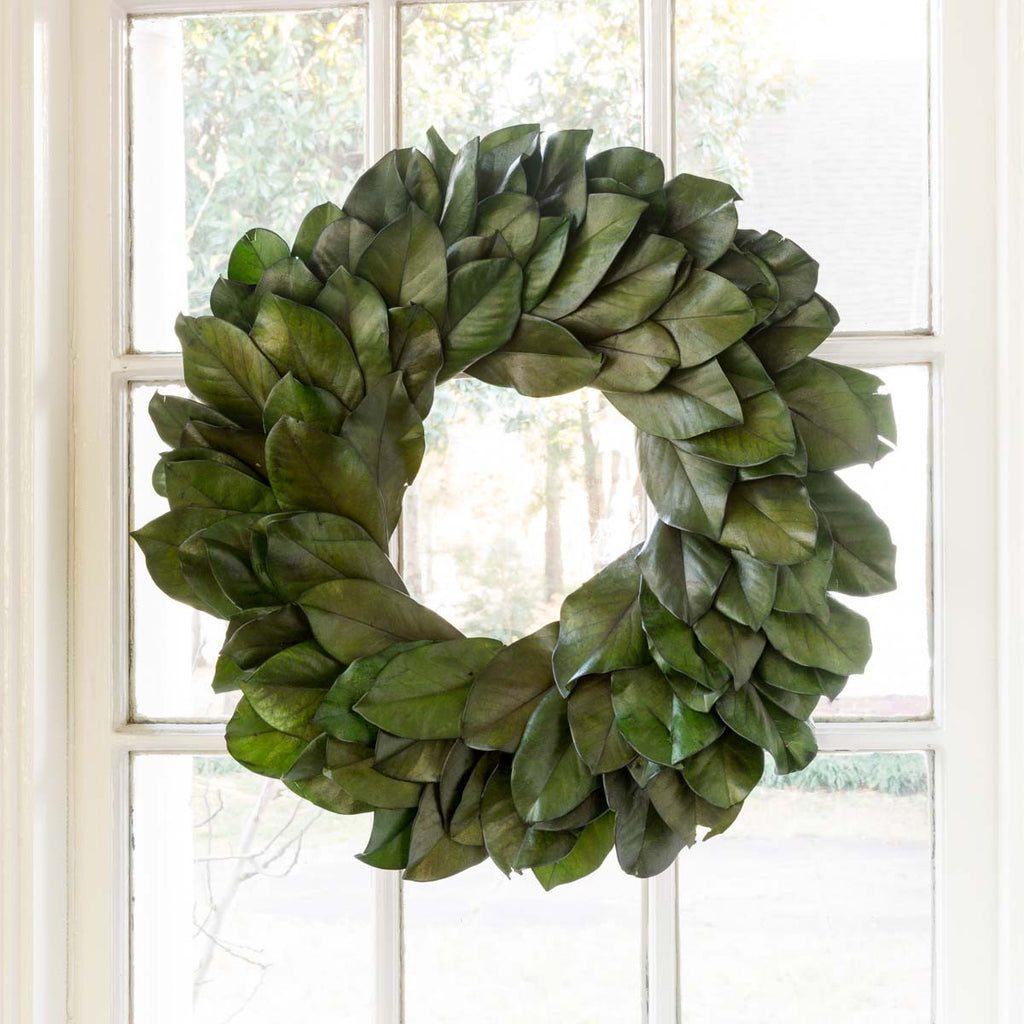 Large Preserved Magnolia Leaf Wreath