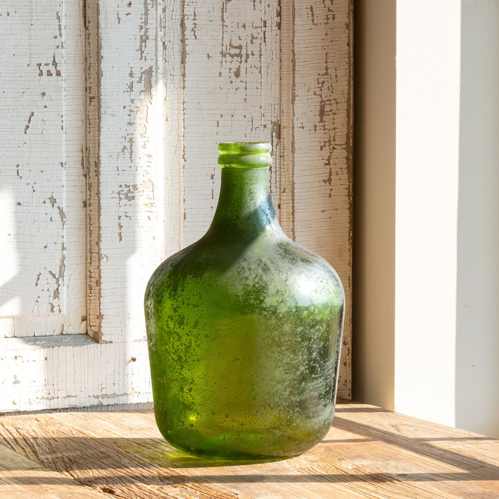 Recycled Glass Cellar Bottle Medium