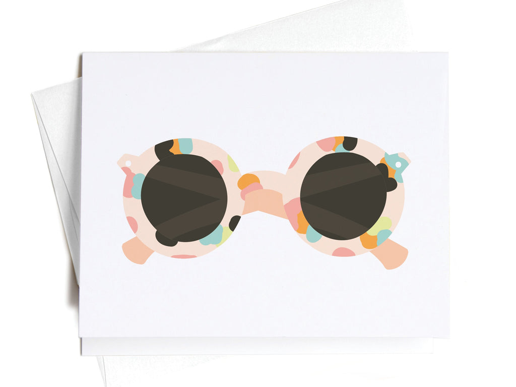 Summer Spotted Sunglasses Notecards - onderkast-studio