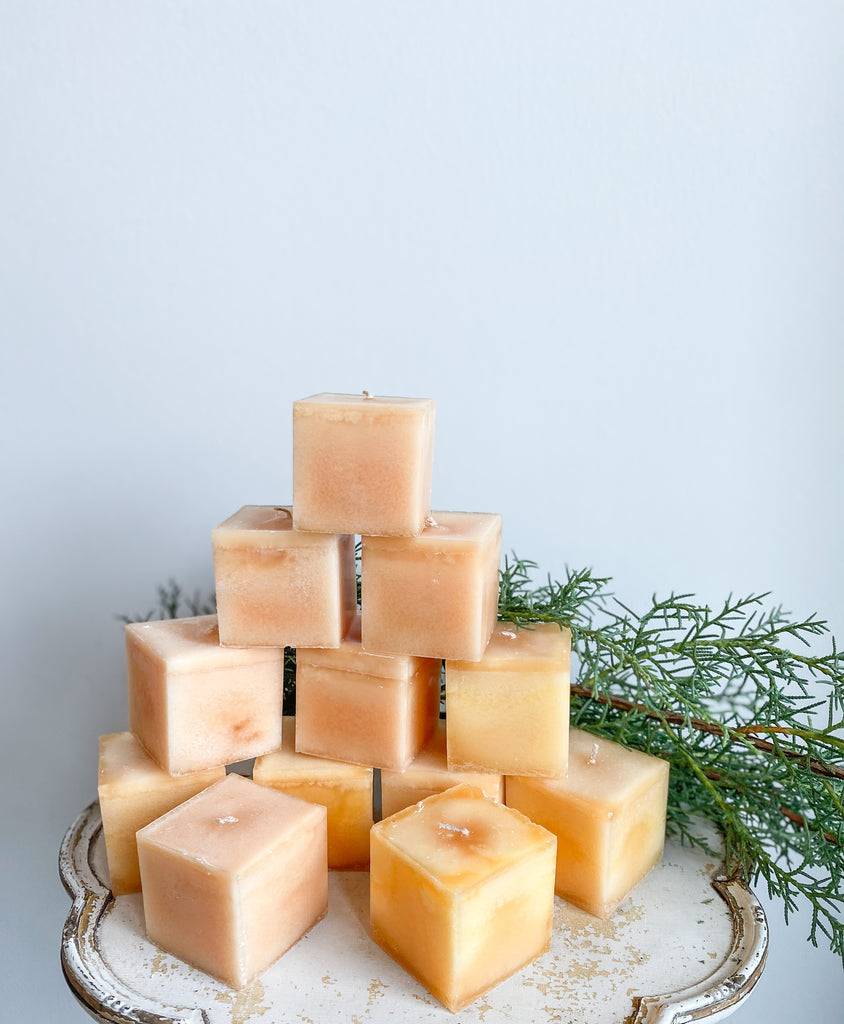 Candle -Box of 12 Cubed Candles 35Hr - Vanilla Almond