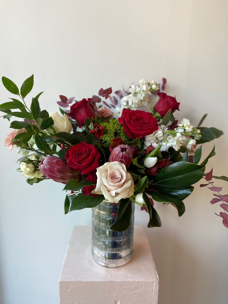 The Holiday Cheer Collection-Elegant Silver Arrangement