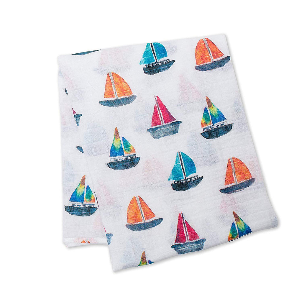 LLJ Cotton Blanket - Sailboats