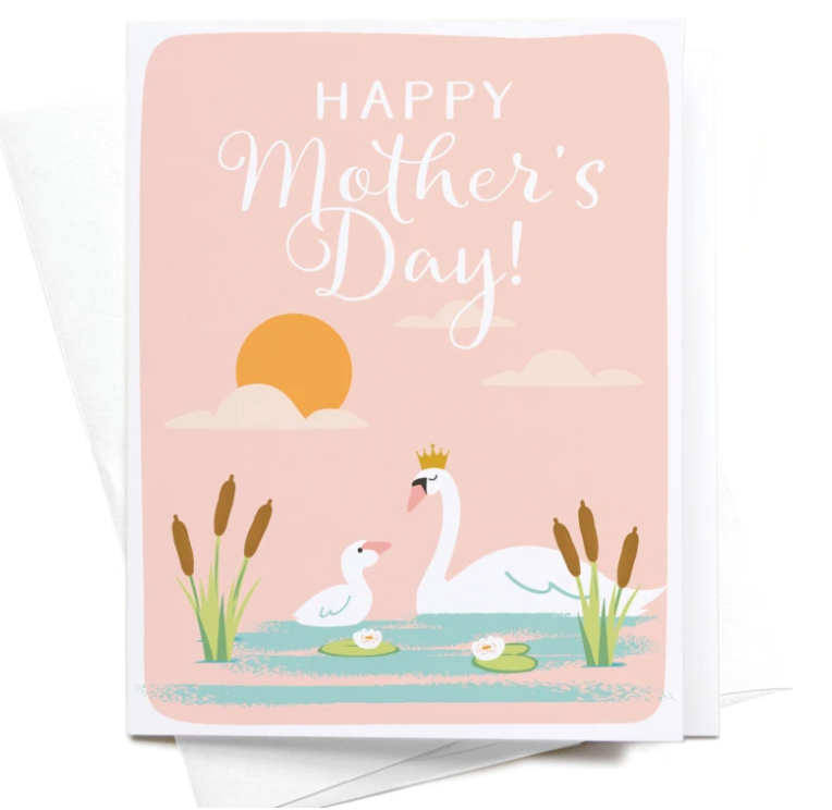 Happy Mothers Day - Swan card