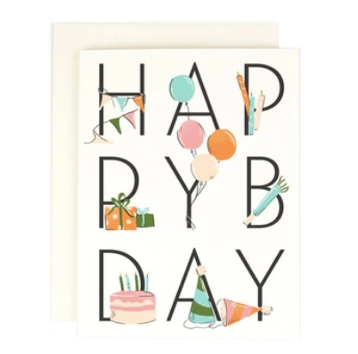 Happy Bday Greeting Card