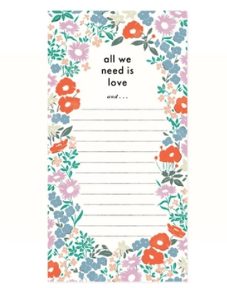 All You Need Is Love List Pad