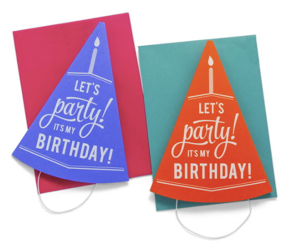 3D Party Hat Greeting Card