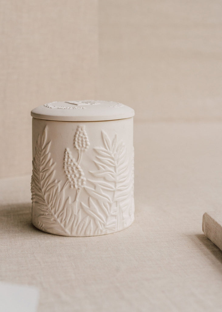 Cedar & Sweet Orange Ceramic Candle