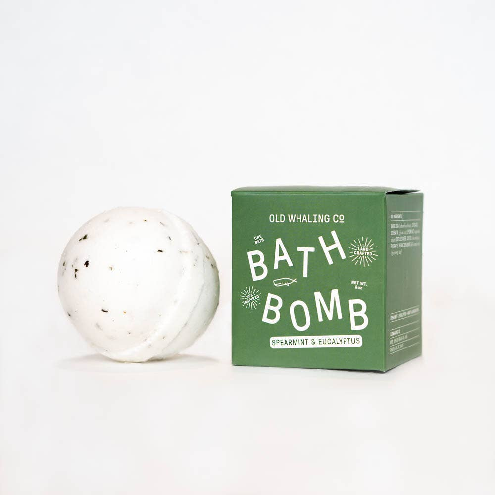 Spearmint + Eucalyptus Bath Bomb