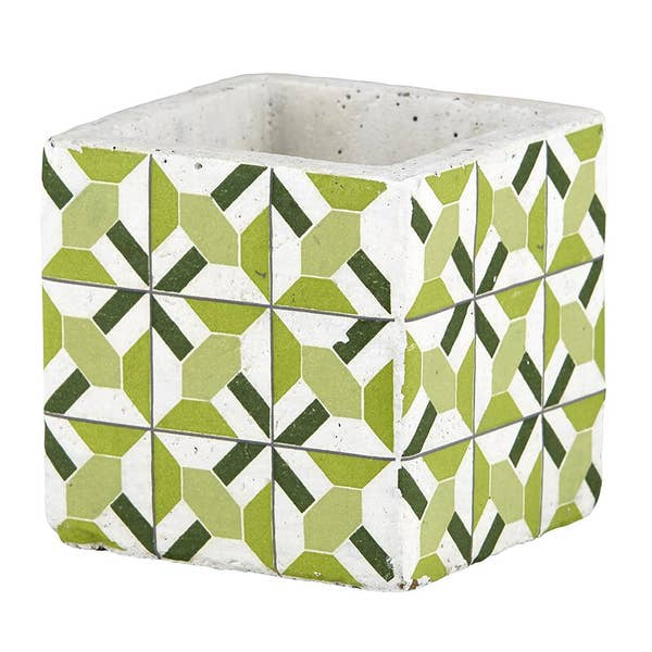 Small Green Pattern Pot