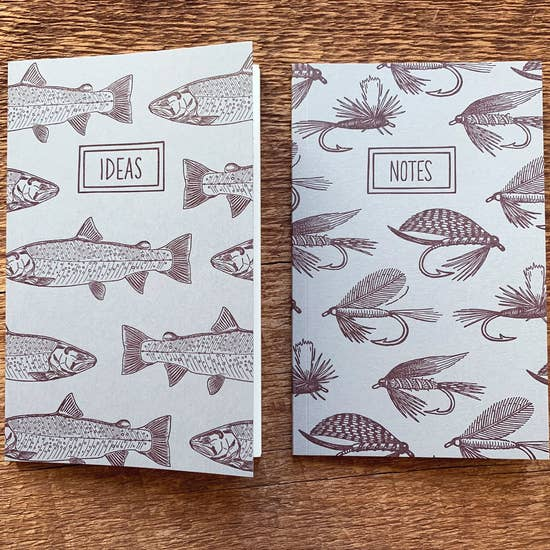 Trouts & Fishing Flies Pocket Notebook, Set of 2