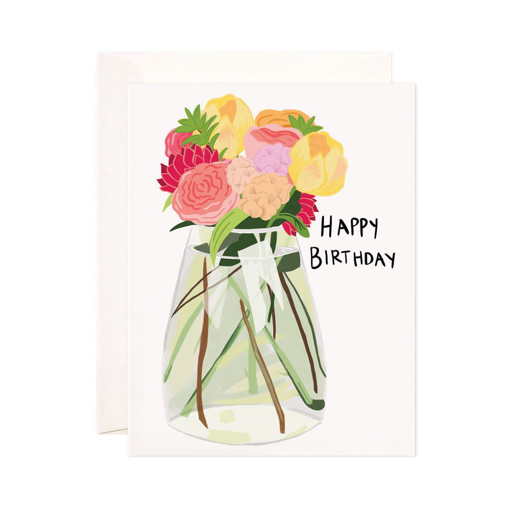 Flower Vase Birthday Card