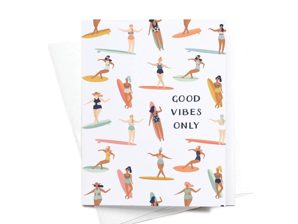 Good Vibes Only Greeting Card - onderkast-studio