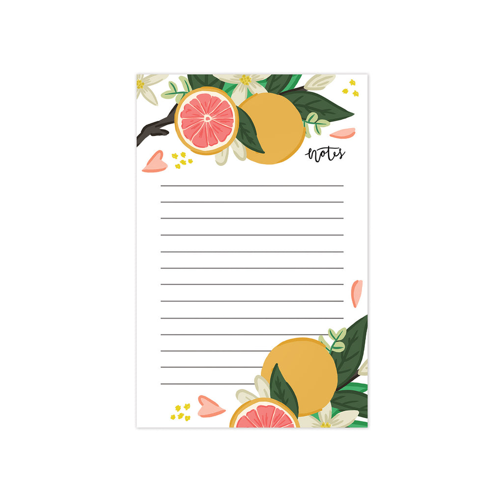 Grapefruit Bloom Notepad