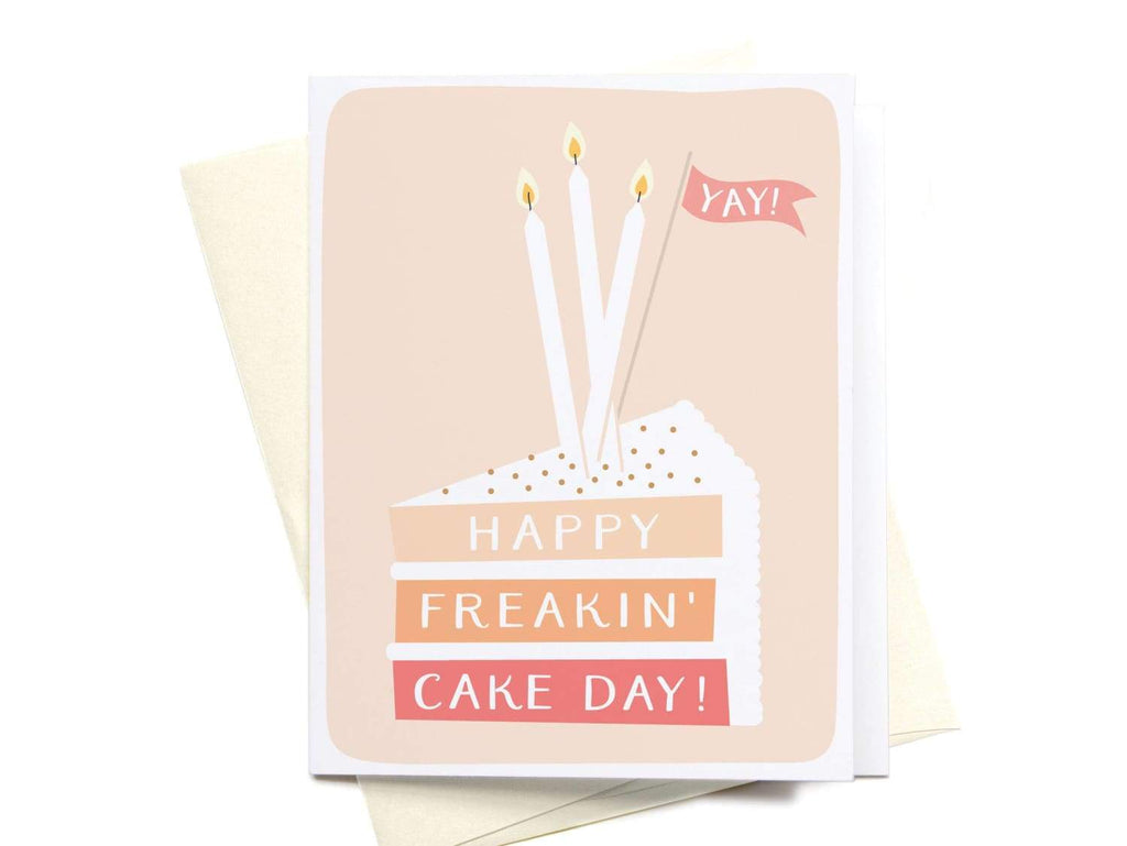 Happy Freakin' Cake Day Greeting Card - onderkast-studio