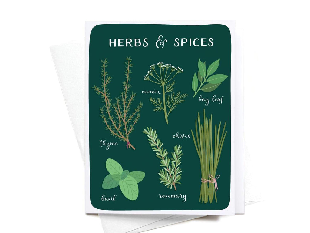 Herbs & Spices Greeting Card - onderkast-studio