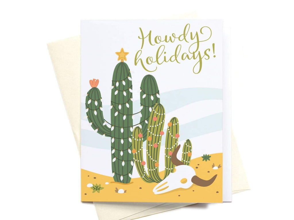 Howdy Holidays! Greeting Card - onderkast-studio