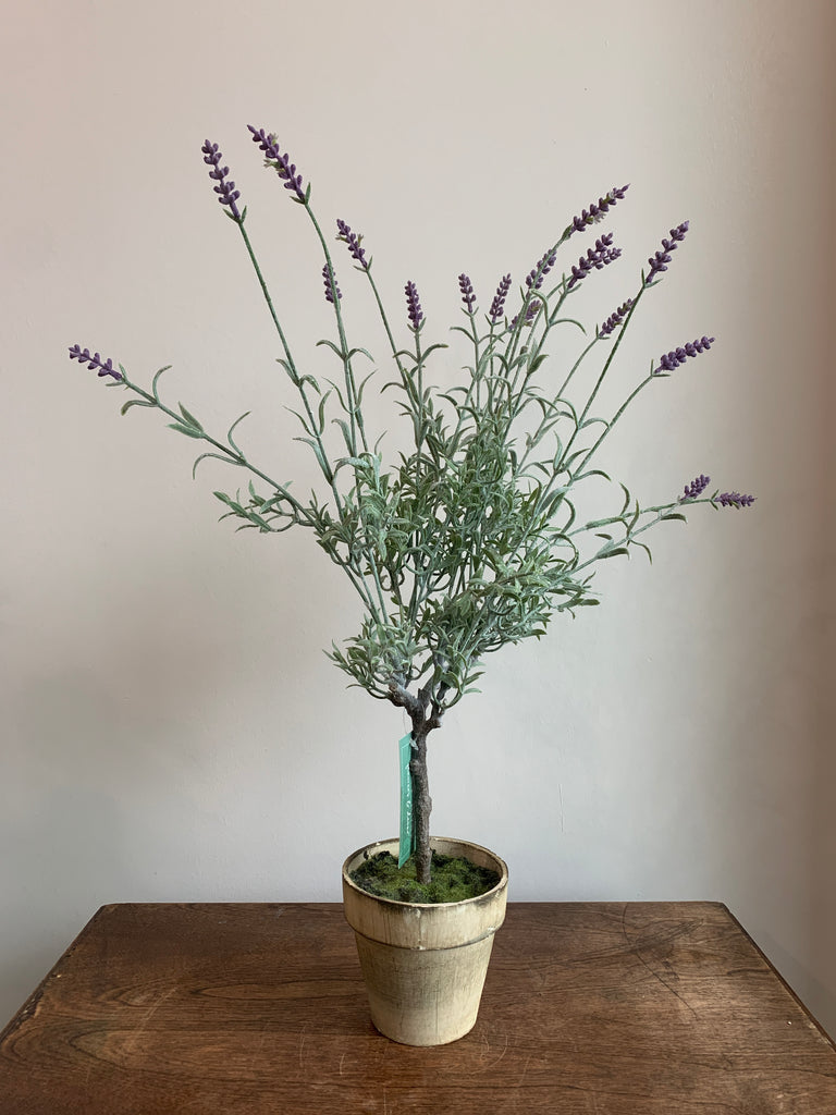 Faux Lavender Tree in pot 4""