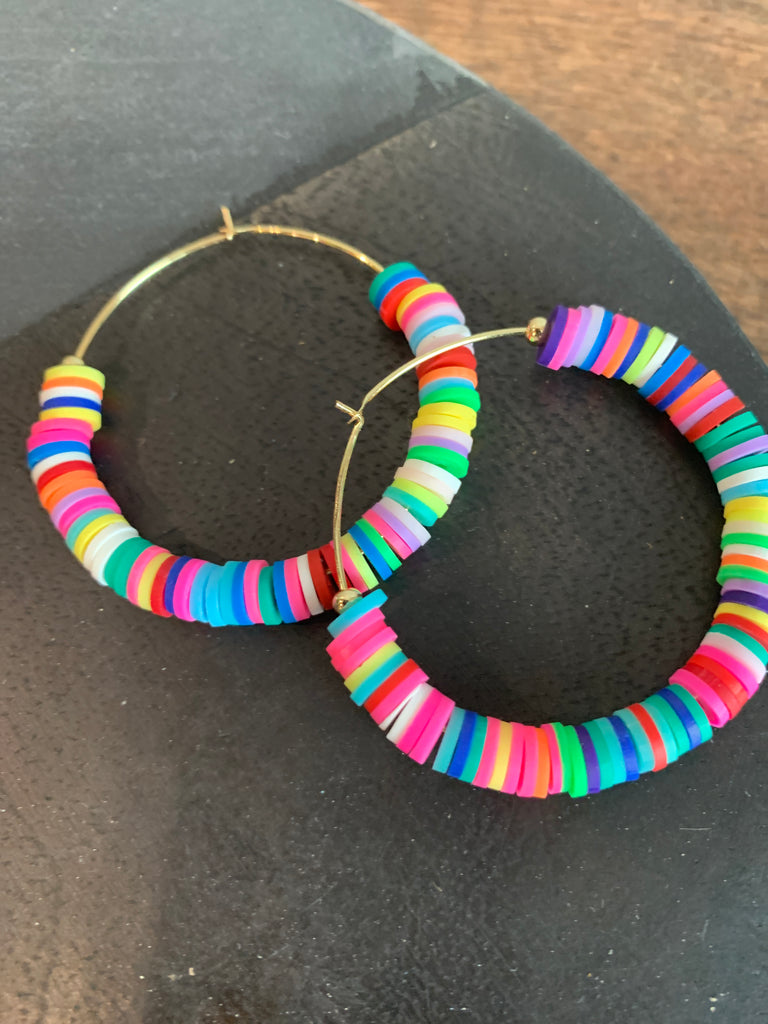 Large Disc Bead Hoop