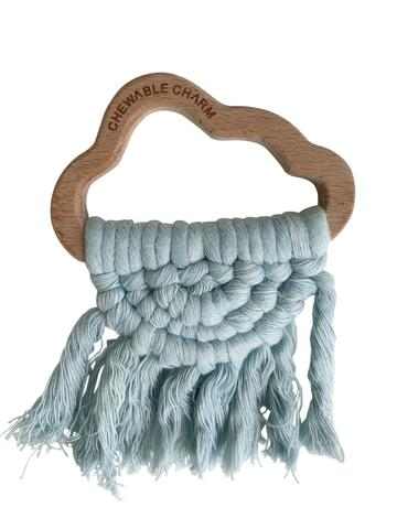 CLOUD MACRAME TEETHER- BLUE