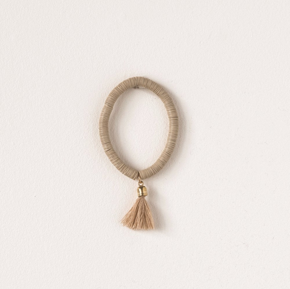 Resin & Metal Oaxaca Bracelet w/ Cotton Tassel