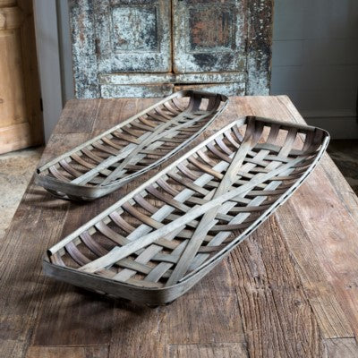 Leaf and Stem Tobacco Basket - Small