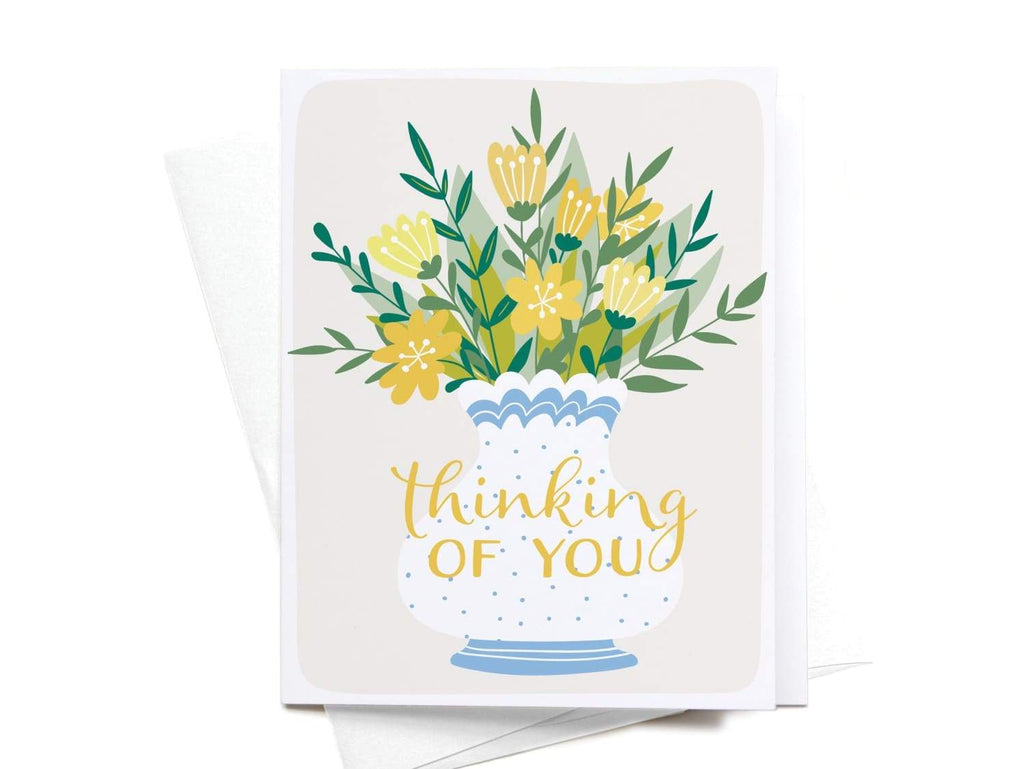 Thinking of You Flowers Greeting Card - onderkast-studio