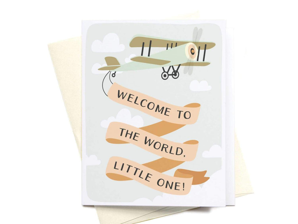 Welcome to the World, Little One! Greeting Card - onderkast-studio