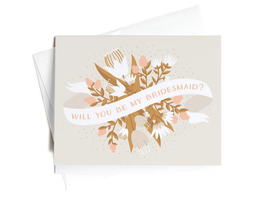 Will You Be My Bridesmaid Greeting Card - onderkast-studio