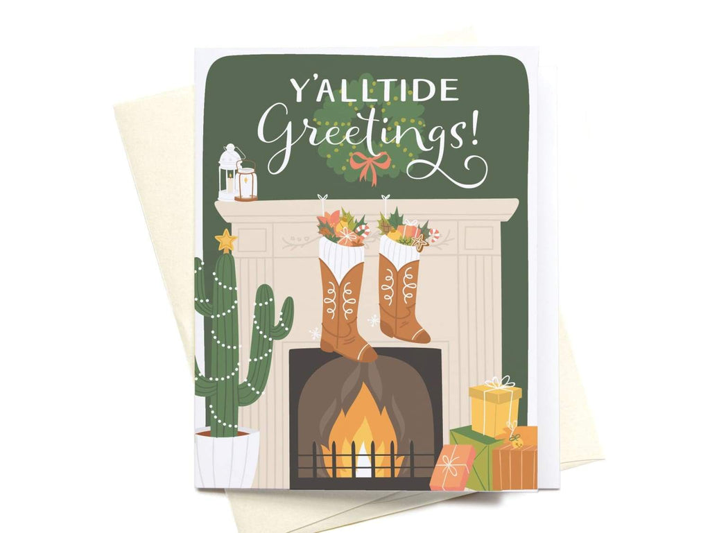 Y'alltide Greetings! Greeting Card - onderkast-studio