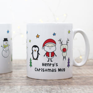 Santa And Friends Christmas Mug