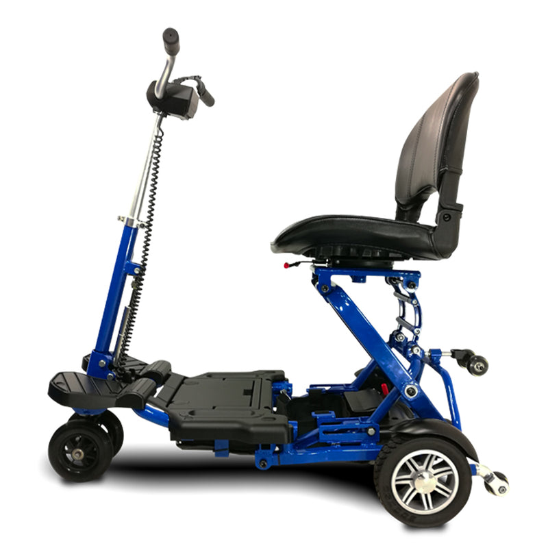 EV Rider MiniRider Folding Left Side Angle Blue