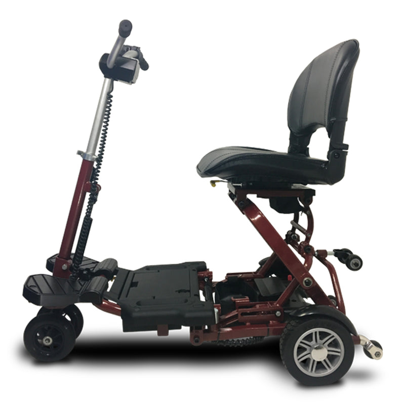 EV Rider MiniRider Folding Left Side Angle Red