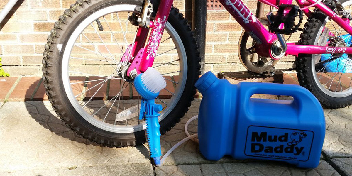How to clean your bike in 1 easy step with Mud Daddy.