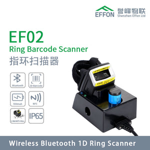 Industrial Bluetooth Wearable Ring Barcode Scanner 1D Laser EF02