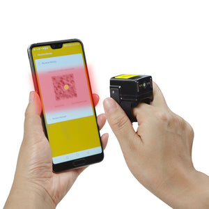 Small Ring Bluetooth Barcode Scanner TS02 With Touch Scan