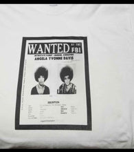 Load image into Gallery viewer, Angela Davis FBI Wanted Graphic  Tee Shirt.
