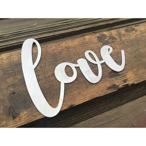 Love Metal Word Sign