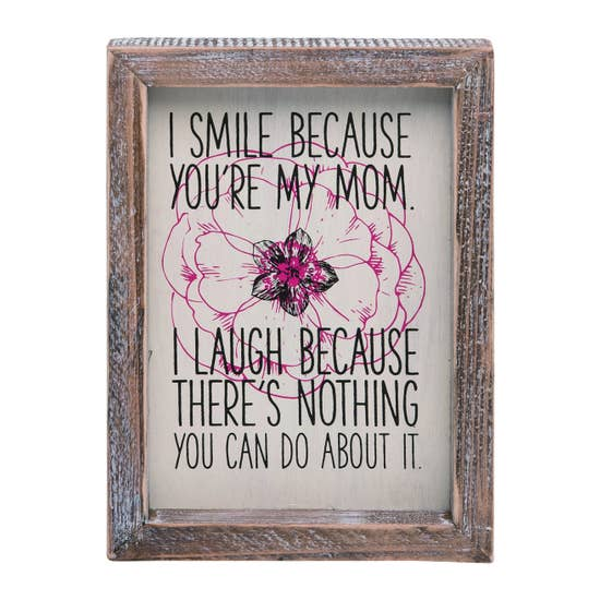 Mother Funny Block Decor
