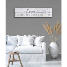 "Load image into Gallery viewer, 40"" x 10"" Love Grows Best Shiplap Sign"