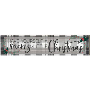 "3"" x 13"" Merry Little Christmas Plaque"